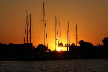 Sonnenuntergang in Knidos